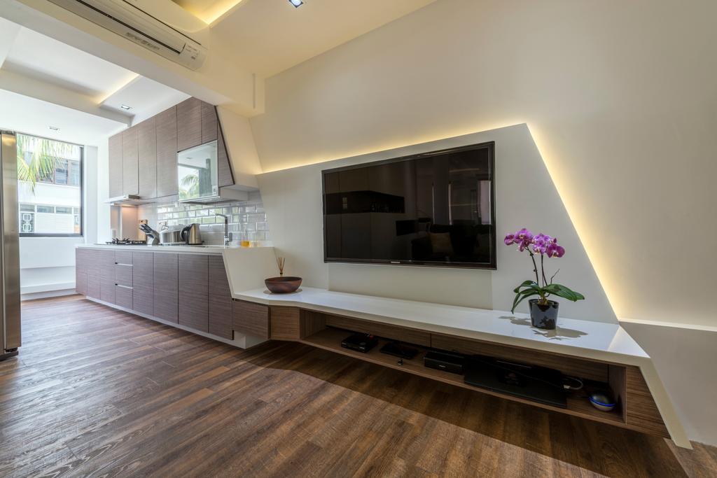 Contemporary, HDB, Kim Cheng Street, Interior Designer, Metamorph Design, Hardwood, Wood, Flooring, Indoors, Interior Design