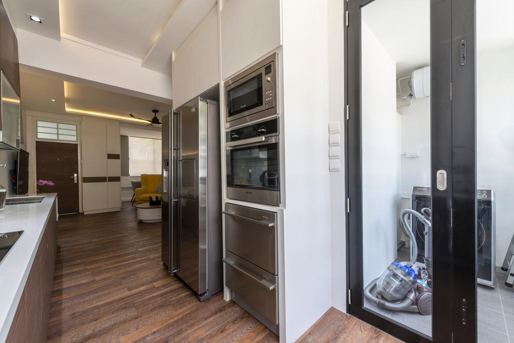 Contemporary, HDB, Kitchen, Kim Cheng Street, Interior Designer, Metamorph Design, Flooring