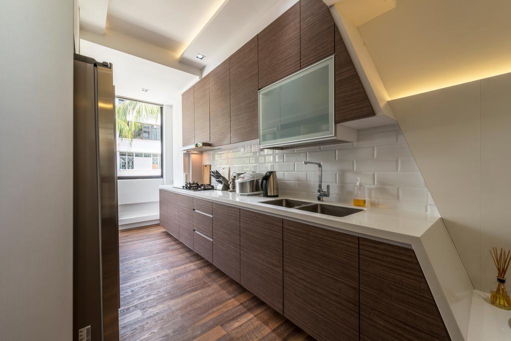 Contemporary, HDB, Kitchen, Kim Cheng Street, Interior Designer, Metamorph Design, Molding, Arch, Arched, Architecture, Building, Vault Ceiling