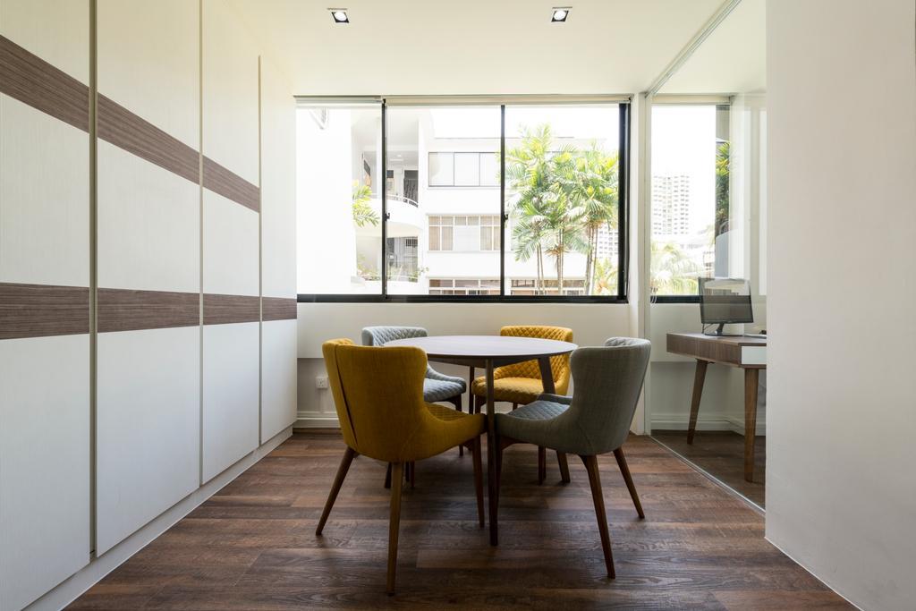 Contemporary, HDB, Dining Room, Kim Cheng Street, Interior Designer, Metamorph Design, Chair, Furniture, Window