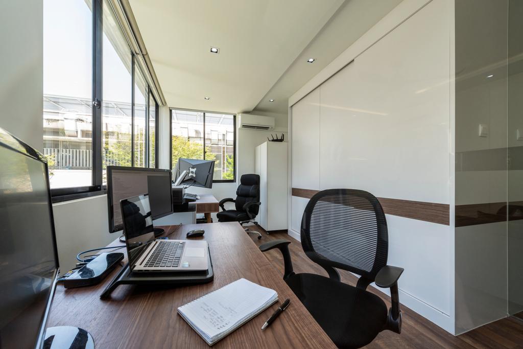 Contemporary, HDB, Study, Kim Cheng Street, Interior Designer, Metamorph Design, Chair, Furniture, Building, Housing, Indoors, Office