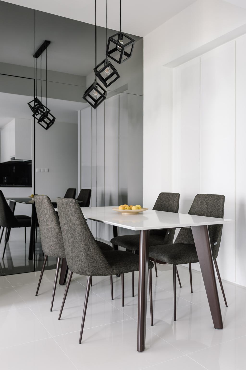 Modern, Condo, Dining Room, The Sail @ Marina Bay, Interior Designer, Metamorph Design, Chair, Furniture, Indoors, Interior Design, Room, Dining Table, Table, Home Decor, Linen, Tablecloth