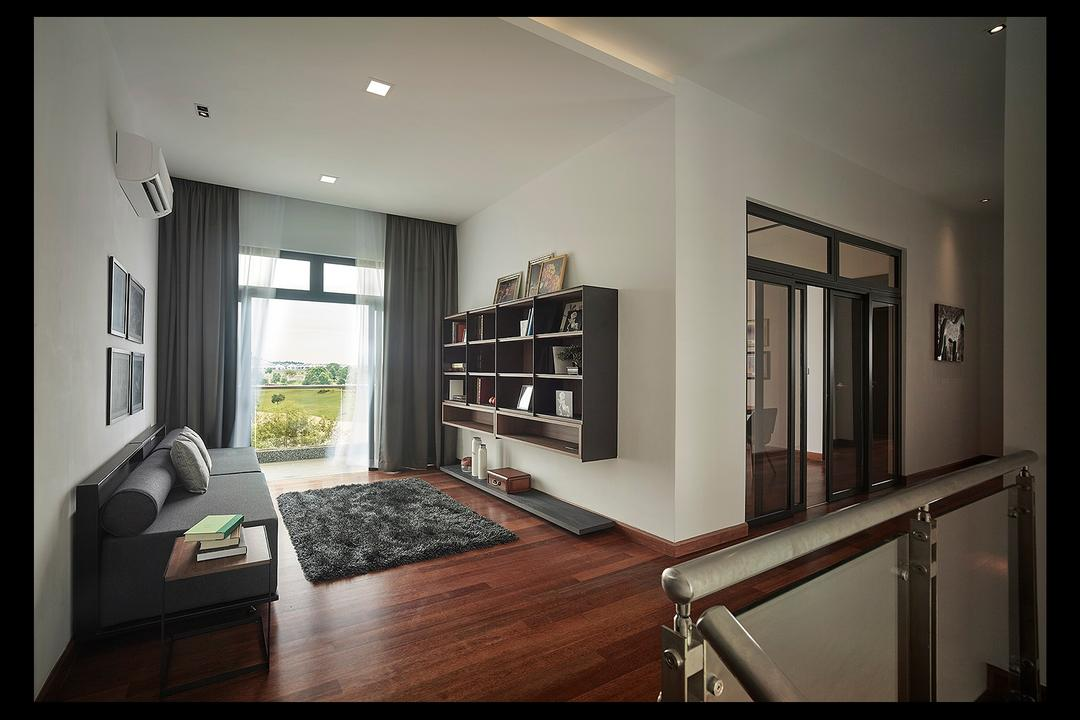 Horizon Hill, Oriwise Sdn Bhd, Modern, Contemporary, Living Room, Landed, Bookcase, Furniture, Curtain, Home Decor, Window, Window Shade, Apartment, Building, Housing, Indoors, Loft