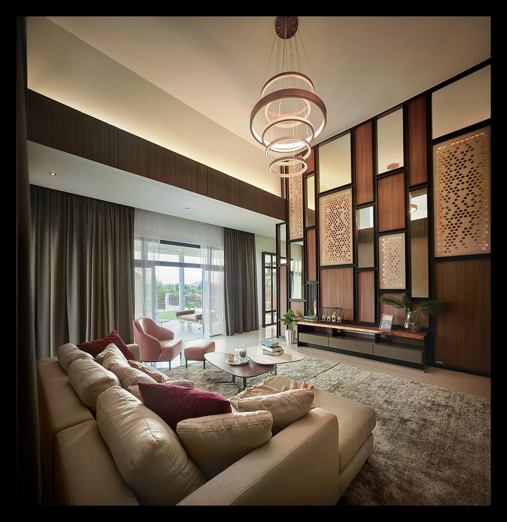 Modern, Landed, Living Room, Horizon Hill, Interior Designer, Oriwise Sdn Bhd, Contemporary, Indoors, Room