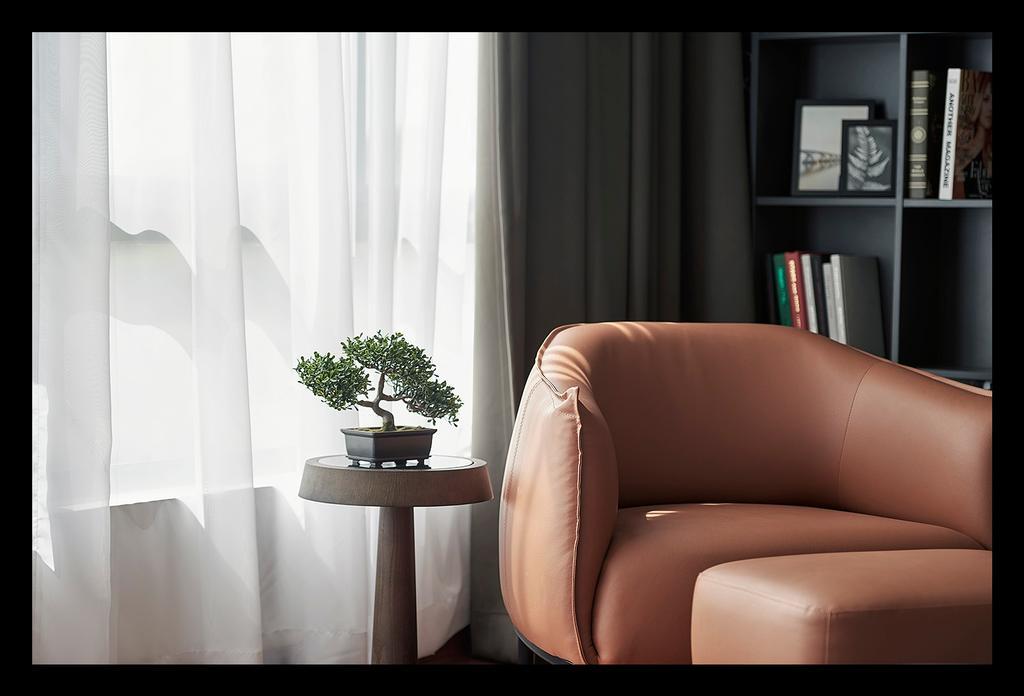 Modern, Landed, Living Room, Horizon Hill, Interior Designer, Oriwise Sdn Bhd, Contemporary, Bonsai, Flora, Jar, Plant, Potted Plant, Pottery, Tree, Vase, Electronics, Entertainment Center, Furniture