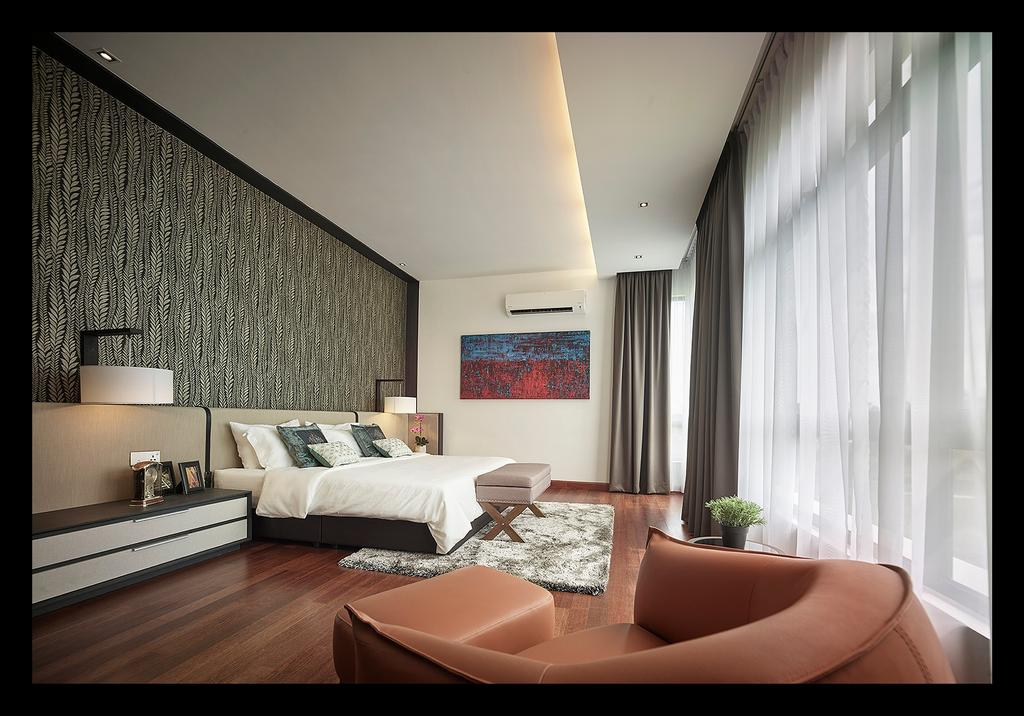 Modern, Landed, Bedroom, Horizon Hill, Interior Designer, Oriwise Sdn Bhd, Contemporary, Indoors, Interior Design, Room