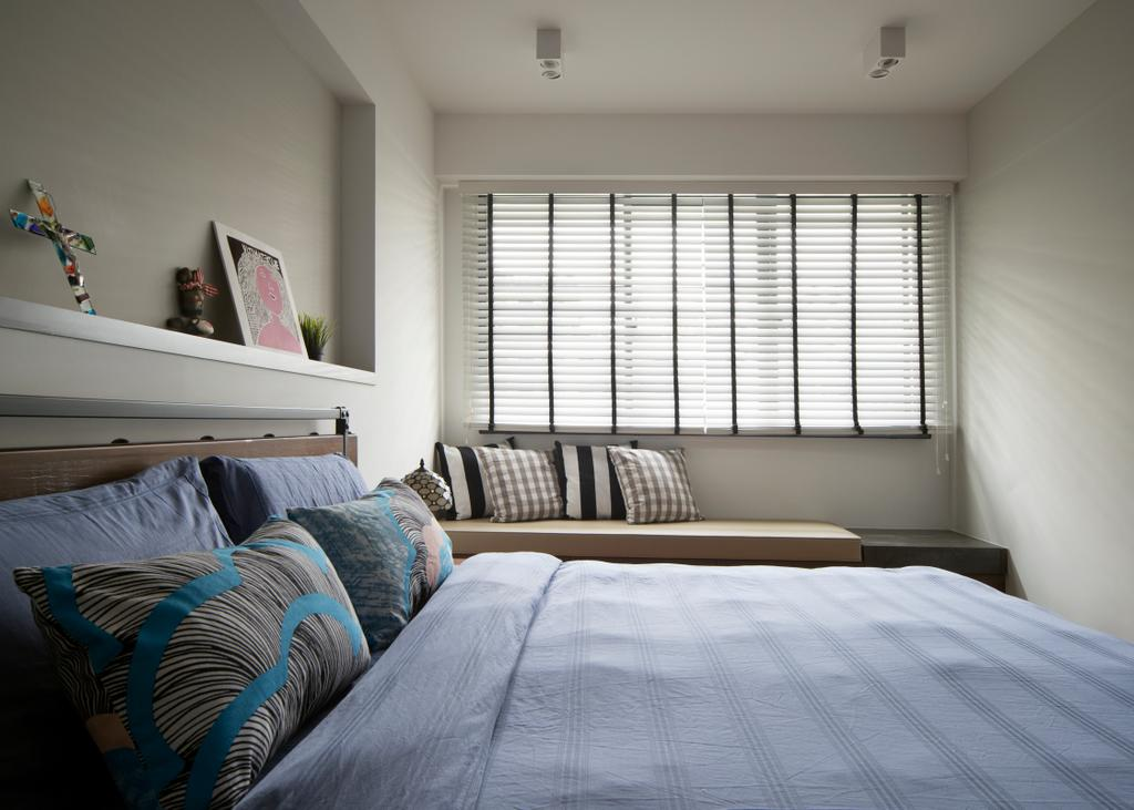 Scandinavian, HDB, Bedroom, Punggol Walk, Interior Designer, Fuse Concept, Indoors, Interior Design, Room