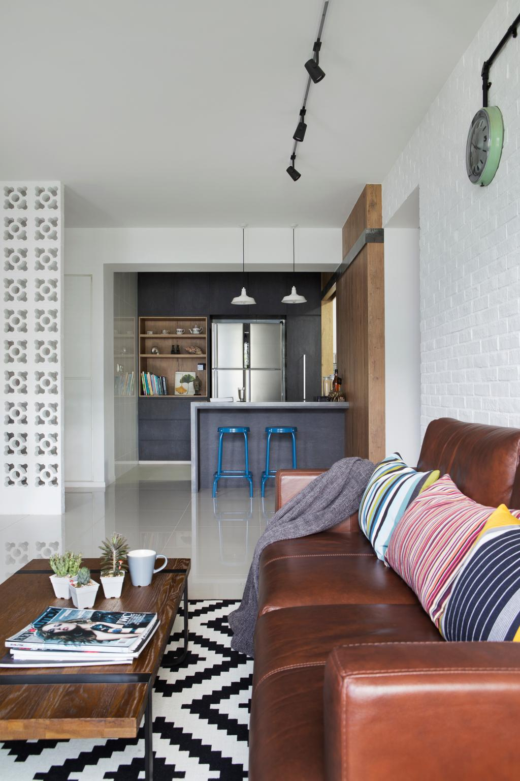 Scandinavian, HDB, Living Room, Punggol Walk, Interior Designer, Fuse Concept