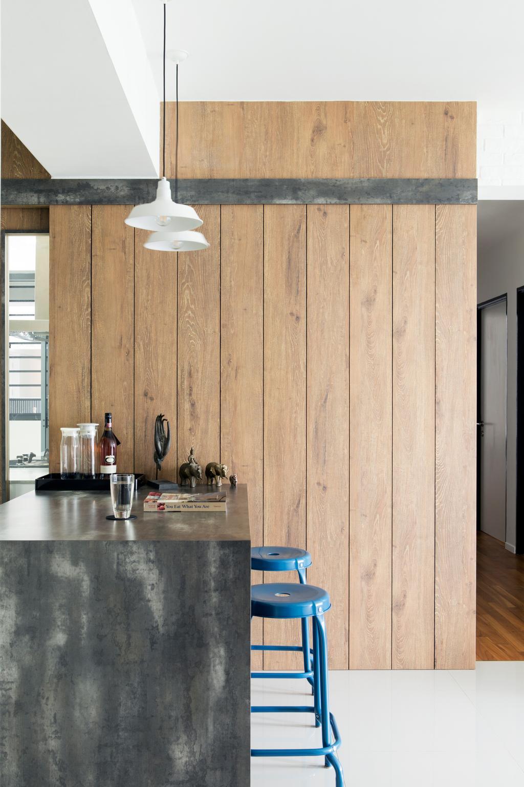 Scandinavian, HDB, Dining Room, Punggol Walk, Interior Designer, Fuse Concept, Plywood, Wood
