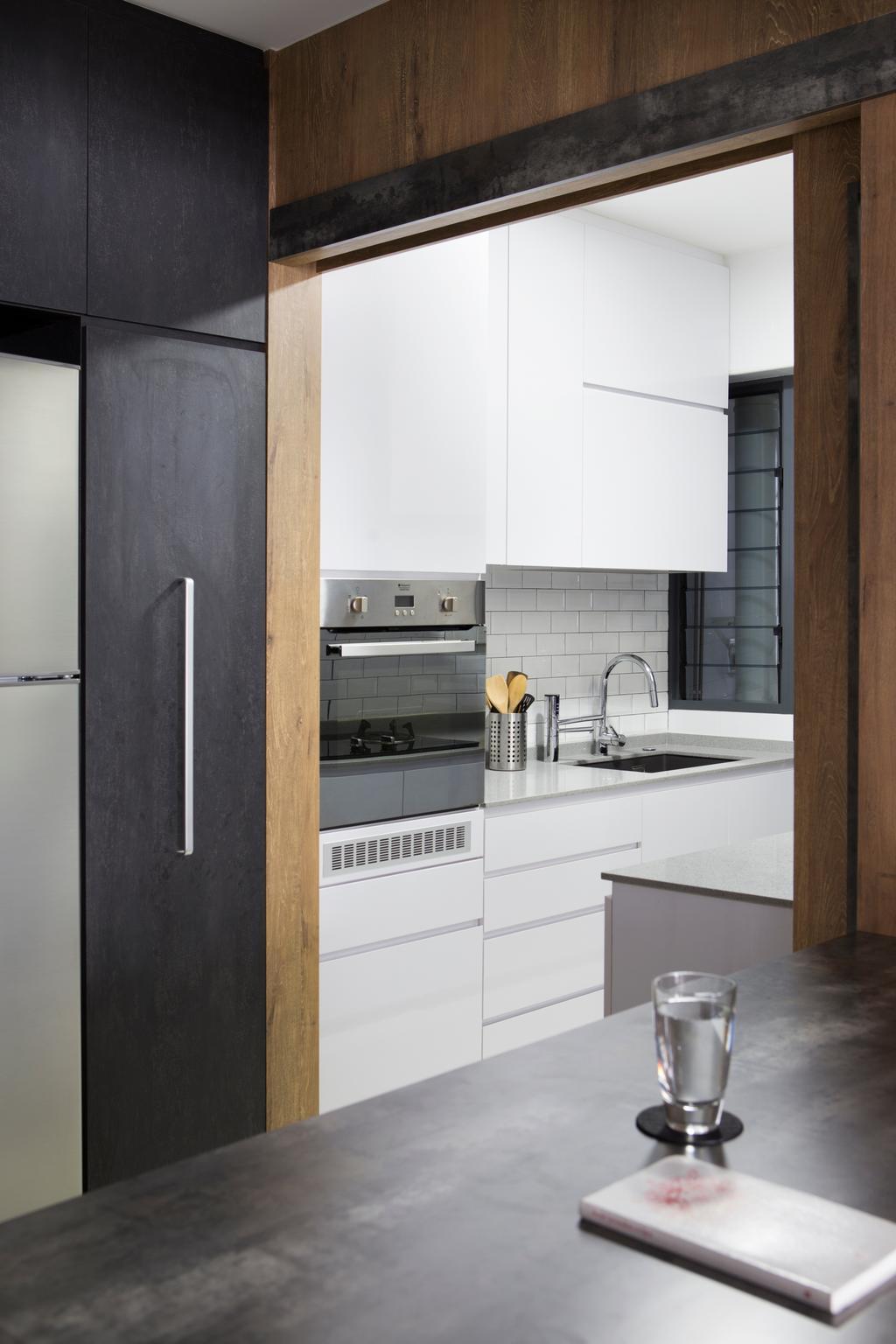 Scandinavian, HDB, Kitchen, Punggol Walk, Interior Designer, Fuse Concept