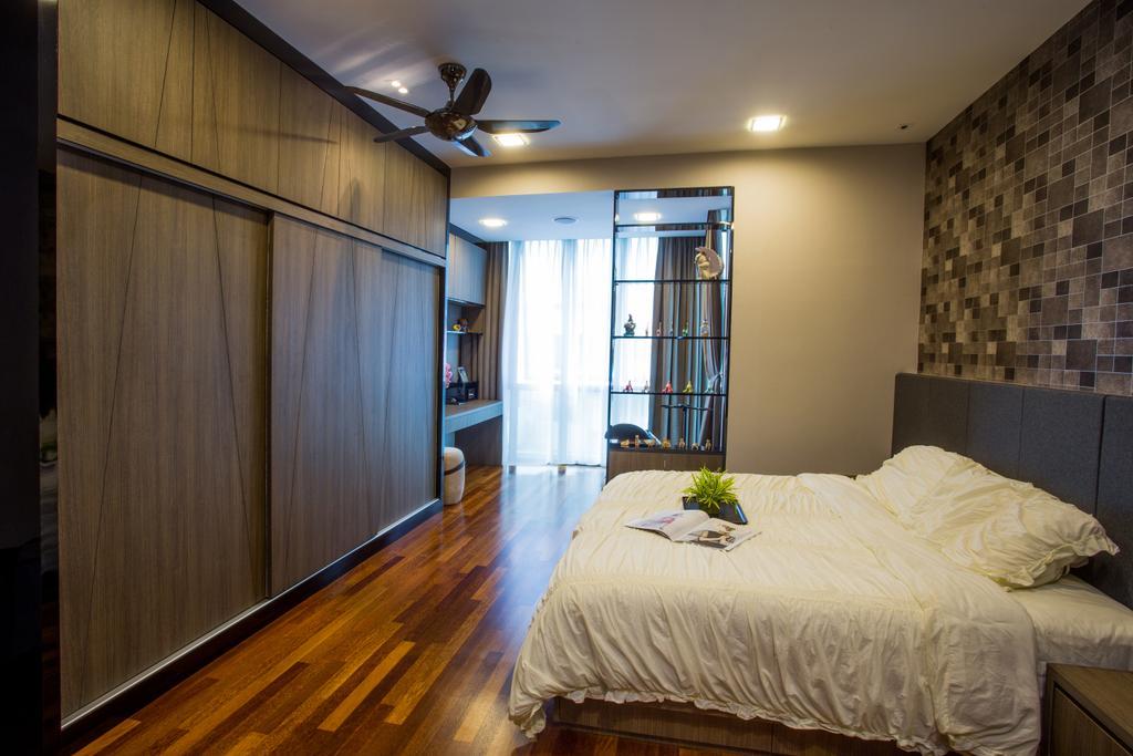Modern, Landed, Bedroom, The Hills, Interior Designer, Sky Creation, Contemporary, Hardwood, Wood, Indoors, Interior Design, Room
