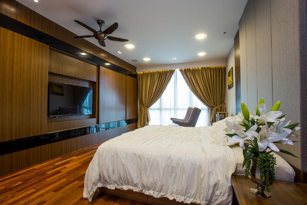 Modern, Landed, Bedroom, The Hills, Interior Designer, Sky Creation, Contemporary, Flora, Jar, Plant, Potted Plant, Pottery, Vase, Bed, Furniture