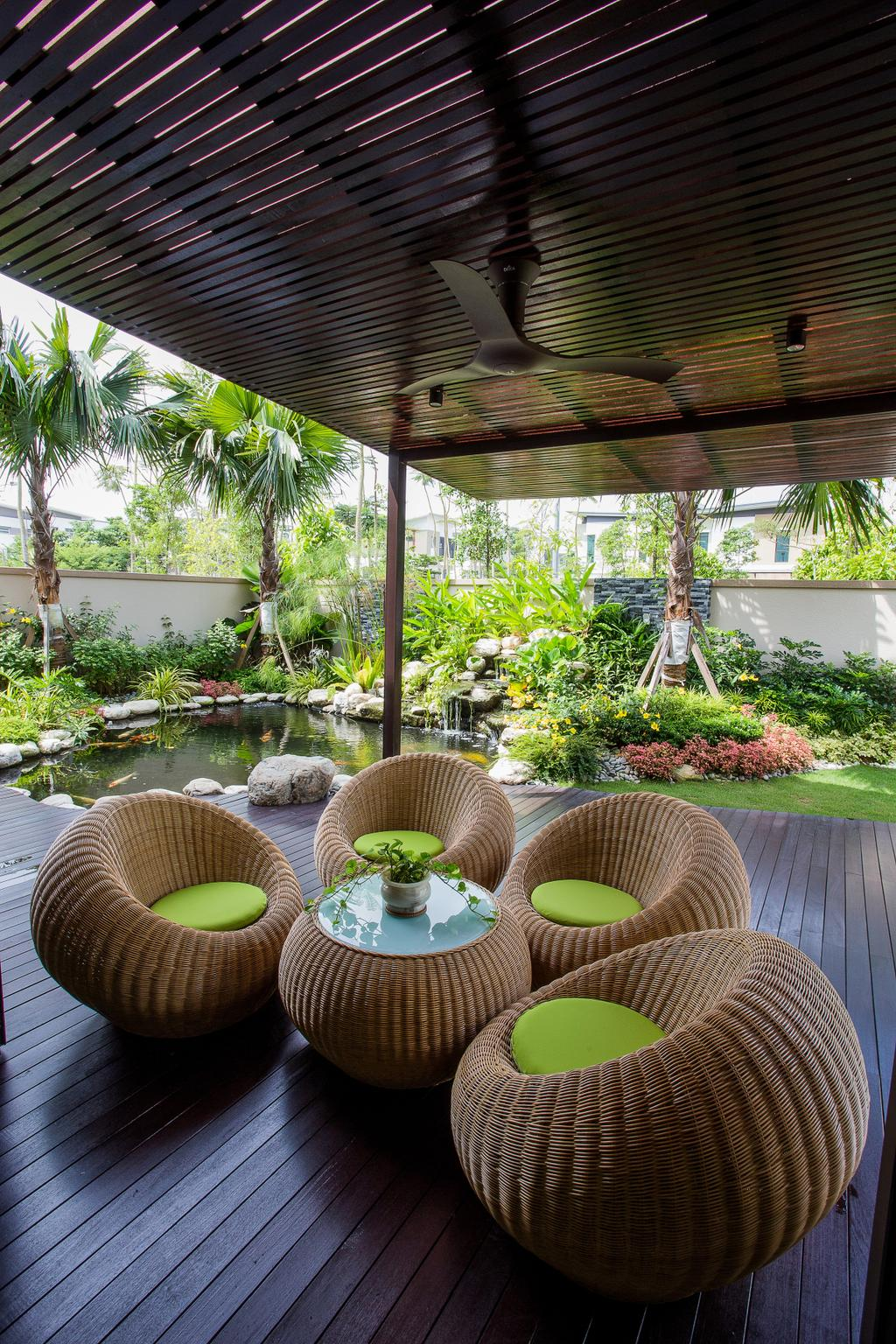 Modern, Landed, Garden, The Hills, Interior Designer, Sky Creation, Contemporary, Chair, Furniture