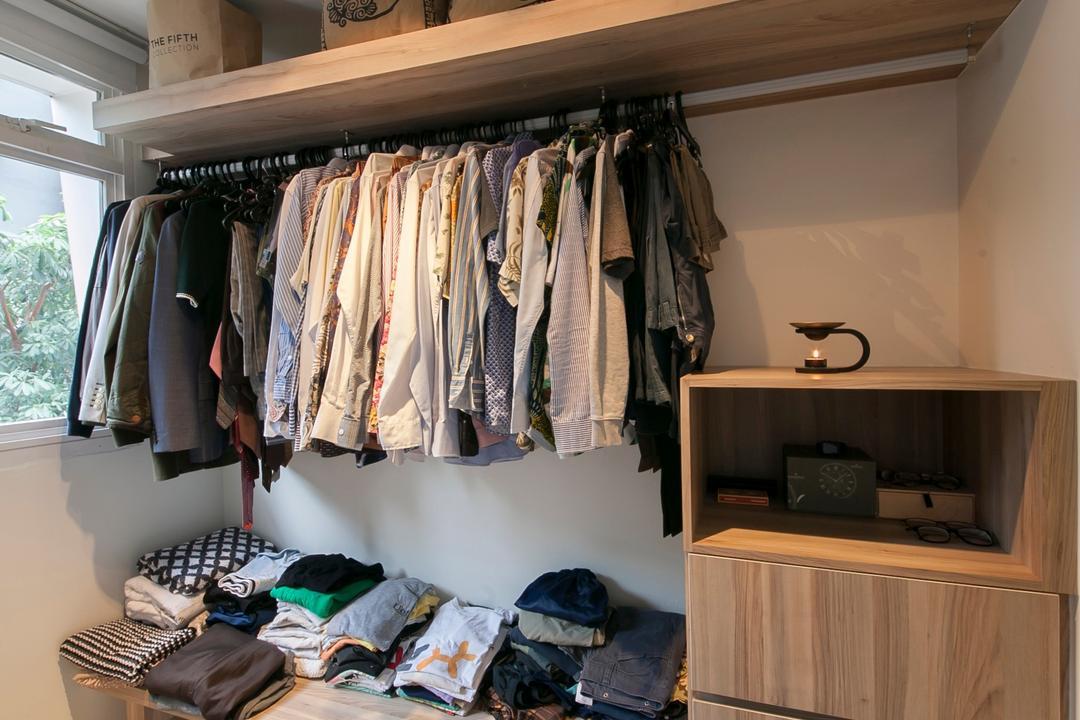 Selegie Road, Voila, Modern, Minimalistic, Bedroom, HDB, Luggage, Suitcase, Asleep