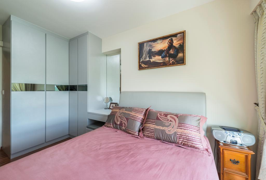Modern, HDB, Bedroom, Upper Serangoon View, Interior Designer, 9 Creation, Scandinavian, Indoors, Interior Design, Room, Art, Painting