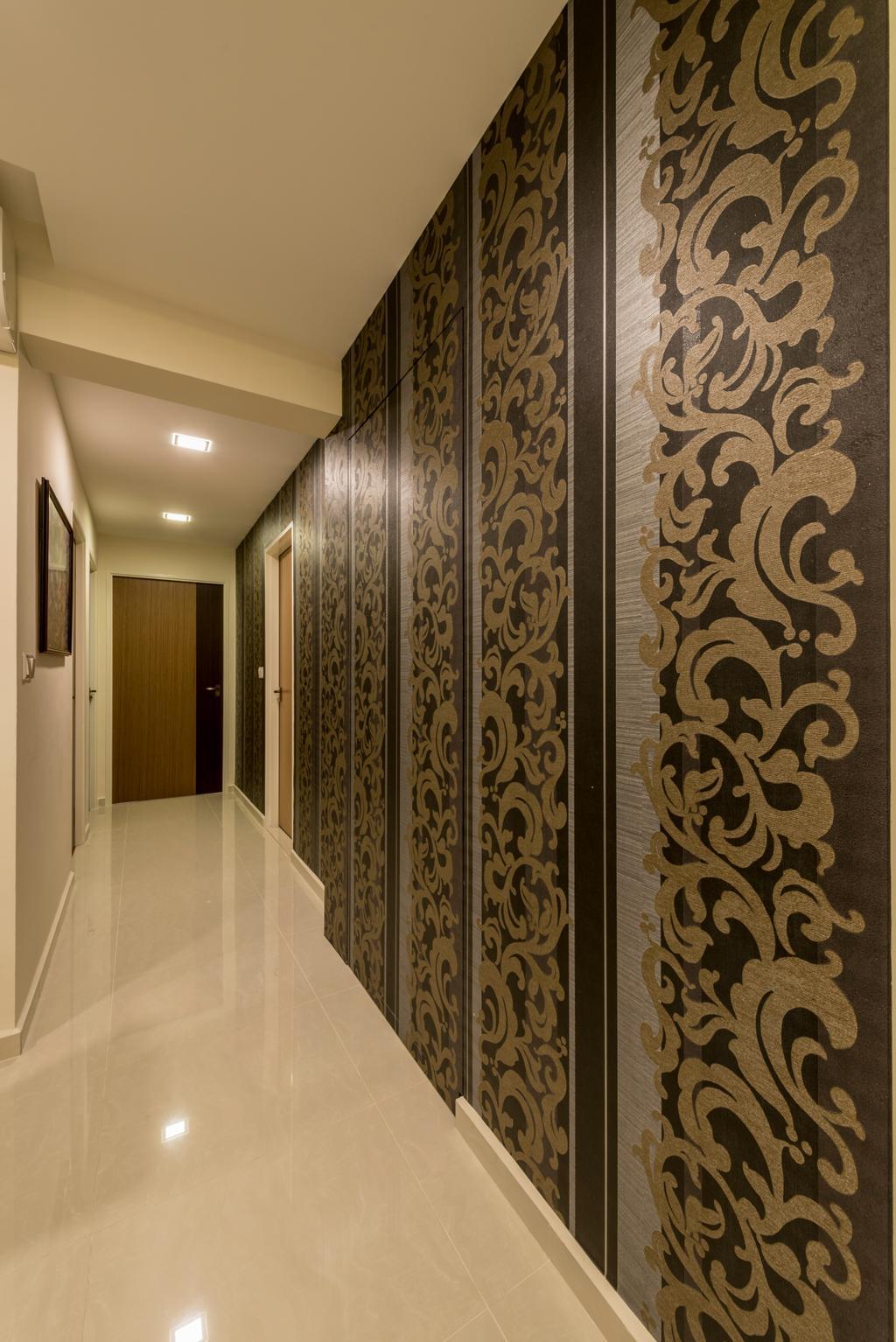 Modern, HDB, Living Room, Upper Serangoon View, Interior Designer, 9 Creation, Scandinavian, Corridor, Flooring