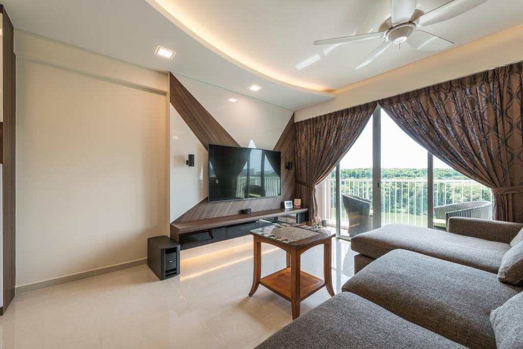 Modern, HDB, Living Room, Upper Serangoon View, Interior Designer, 9 Creation, Scandinavian, Indoors, Interior Design, Chair, Furniture, Room