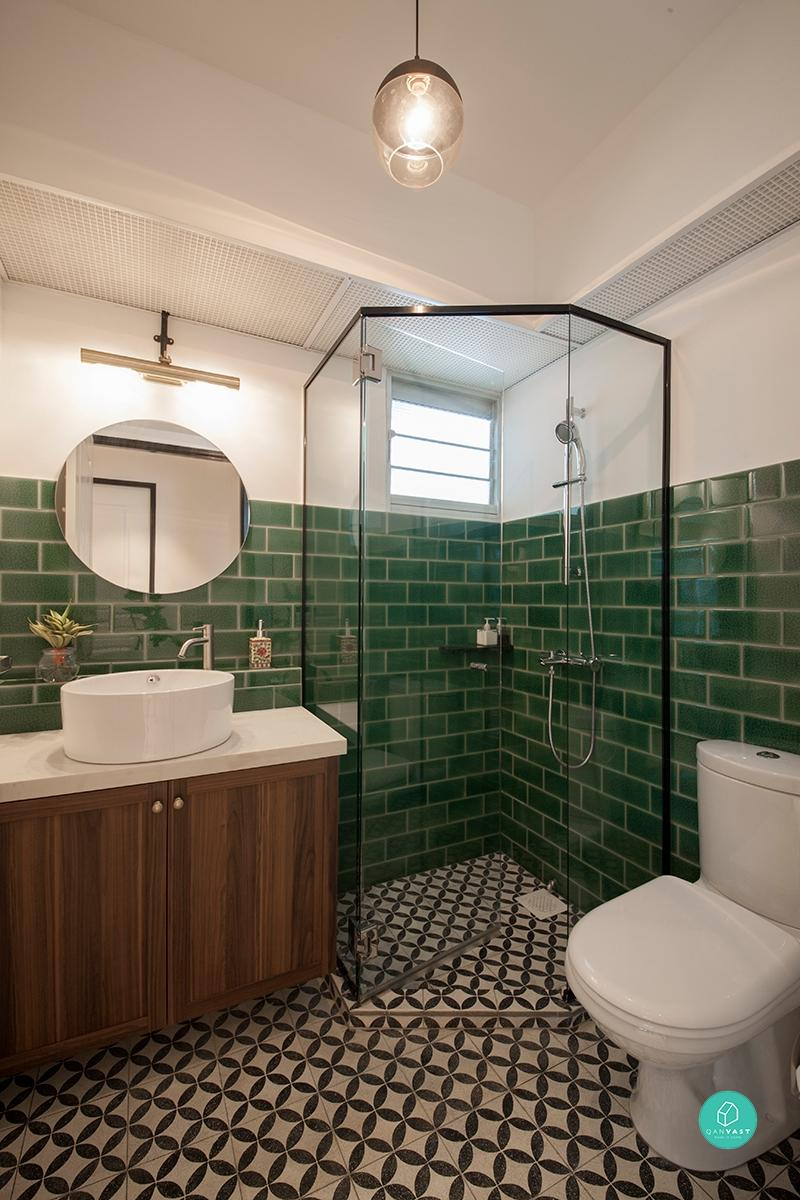9 Hdb Bathroom Makeovers For Every Budget Qanvast