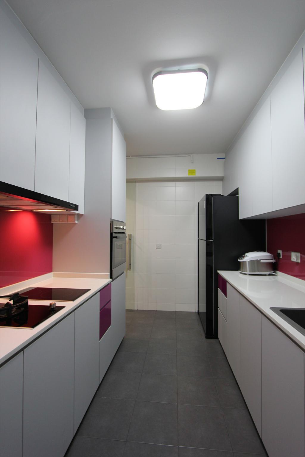 Modern, HDB, Kitchen, Punggol (Block 261A), Interior Designer, Beaux Monde