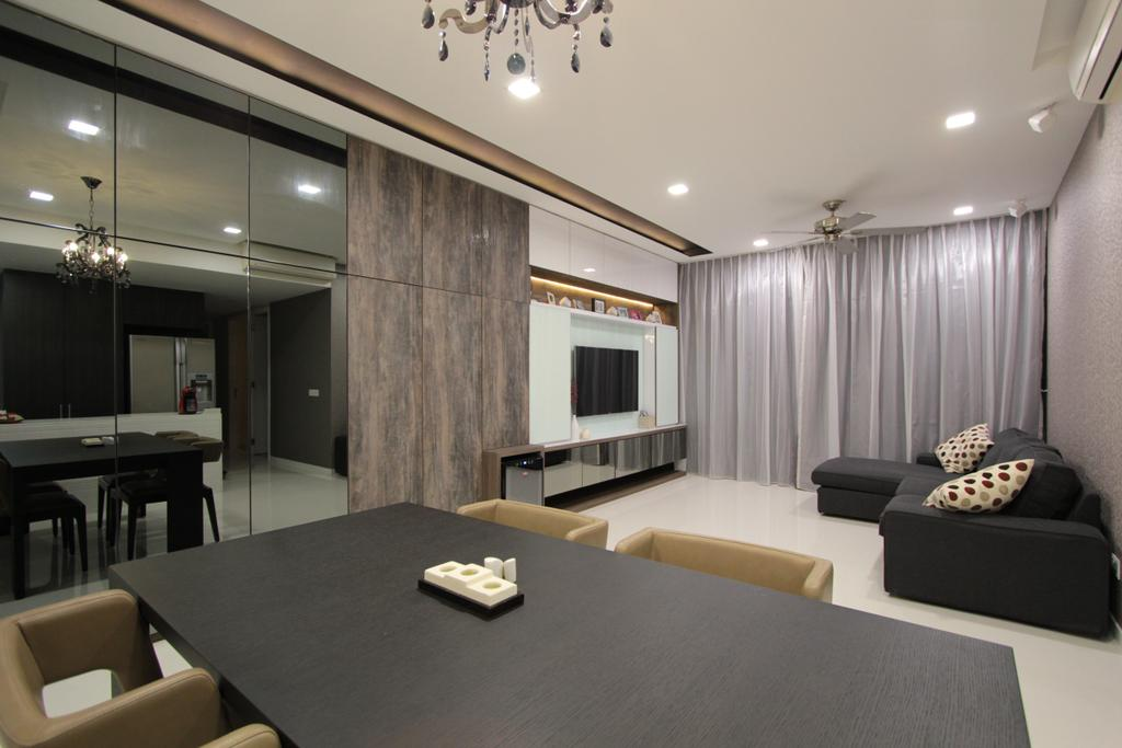 Contemporary, Condo, Dining Room, Ferrera Park, Interior Designer, Beaux Monde, Couch, Furniture, Dining Table, Table, Conference Room, Indoors, Meeting Room, Room, Studio Couch