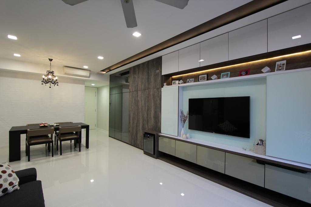 Contemporary, Condo, Living Room, Ferrera Park, Interior Designer, Beaux Monde, Dining Table, Furniture, Table