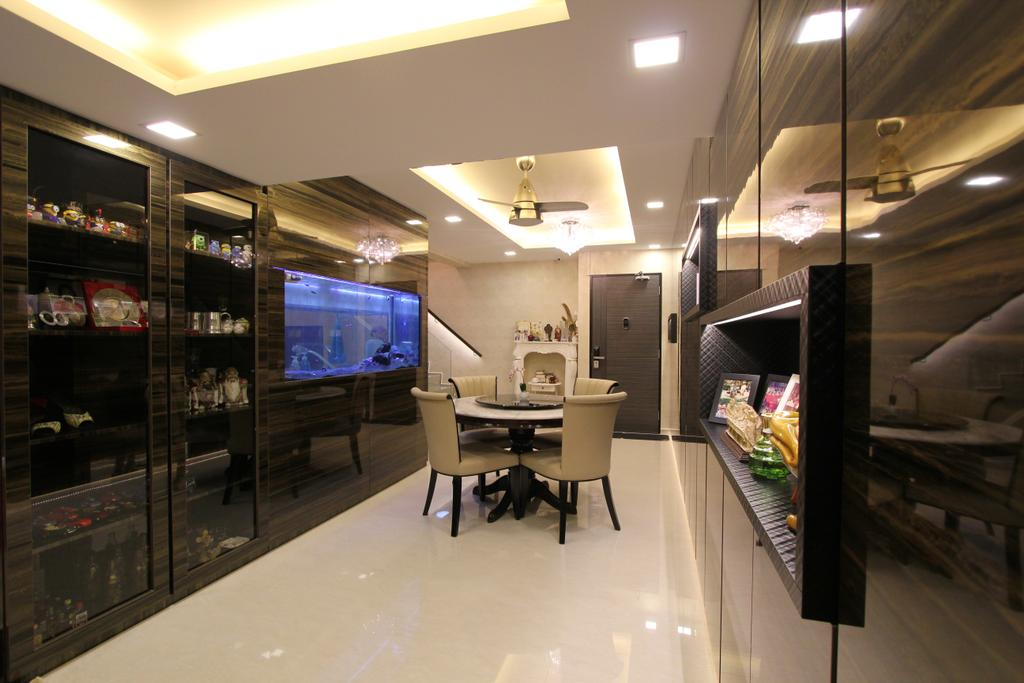 Contemporary, HDB, Dining Room, Hougang Street 51, Interior Designer, Beaux Monde, Dining Table, Furniture, Table