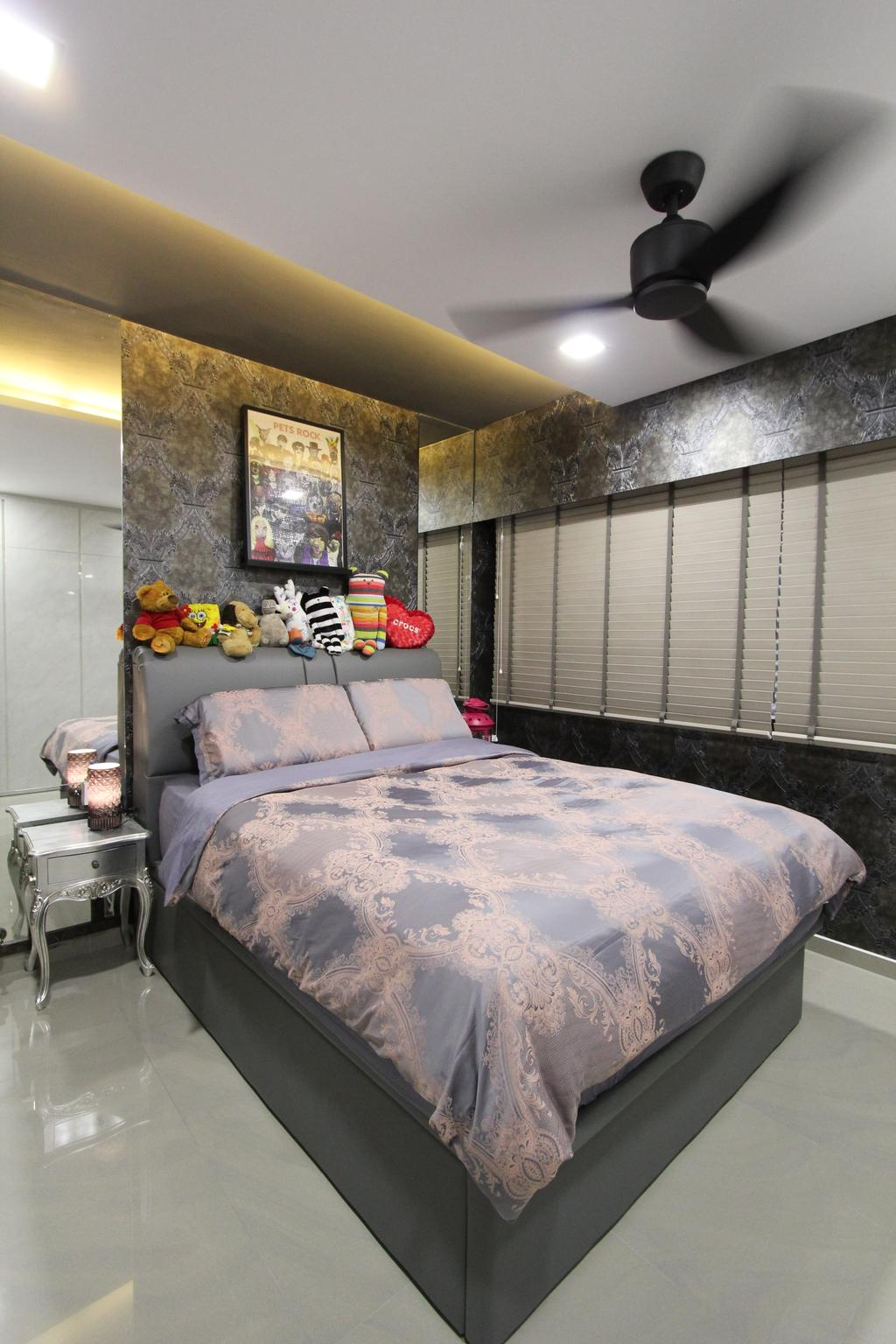 Contemporary, HDB, Bedroom, Hougang Street 51, Interior Designer, Beaux Monde, Bed, Furniture