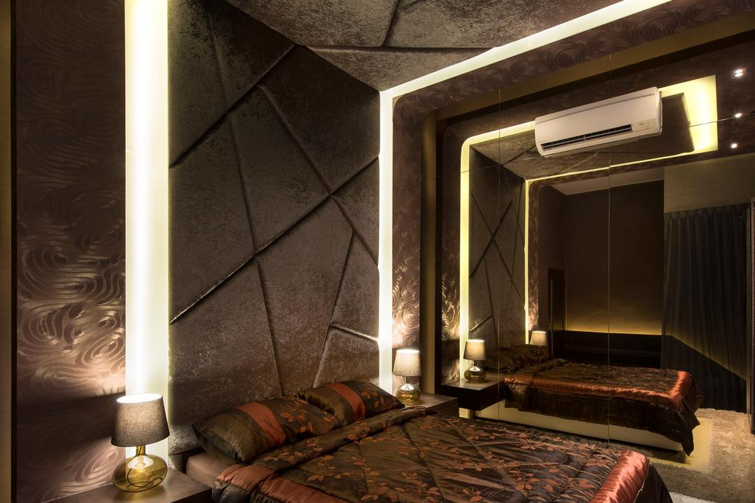 Beaux Monde Show Room (Joo Chiat), Beaux Monde, Modern, Bedroom, Commercial, Modern Contemporary Bedroom, King Size Bed, Cozy, Cosy, Hidden Interior Lighting, Classy, Mirror Panel, Lamp, Appliance, Electrical Device, Oven