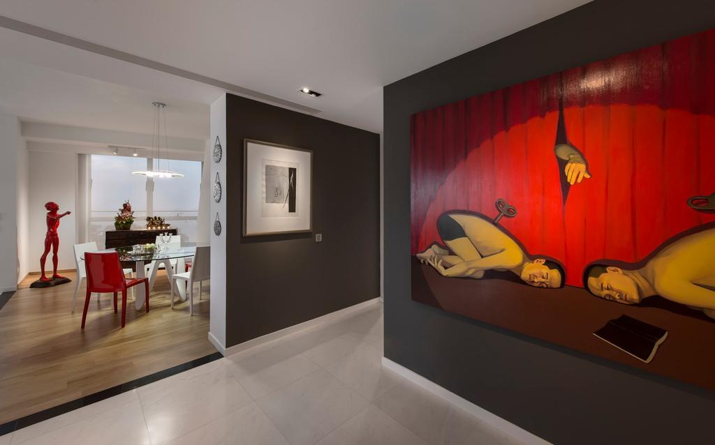 Modern, Condo, Dining Room, Reflections, Interior Designer, Beaux Monde, Art, Art Gallery, Indoors, Interior Design, Room