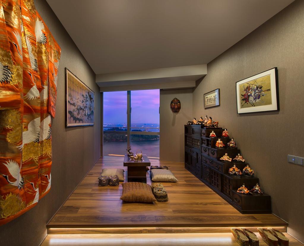 Modern, Condo, Living Room, Reflections, Interior Designer, Beaux Monde, Dining Room, Indoors, Interior Design, Room