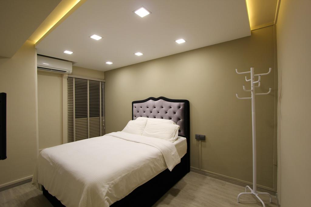 Modern, HDB, Bedroom, Selegie, Interior Designer, Beaux Monde, Bed, Furniture, Indoors, Interior Design, Room