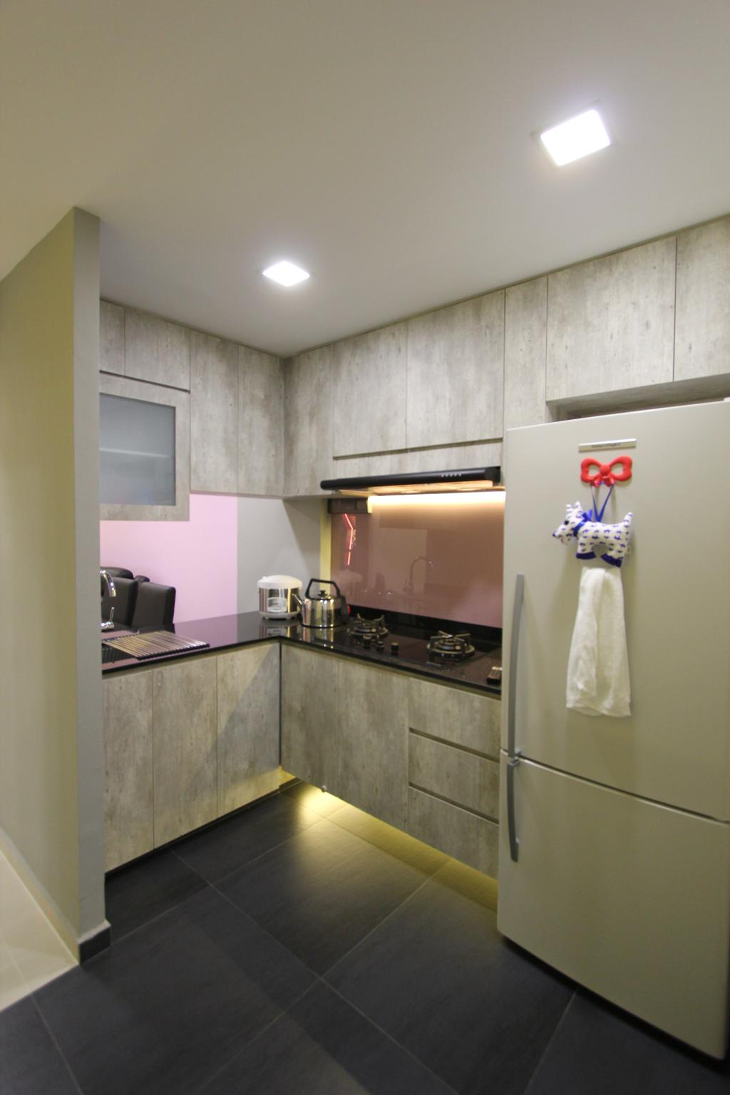 Modern, HDB, Kitchen, Selegie, Interior Designer, Beaux Monde, Indoors, Interior Design, Room