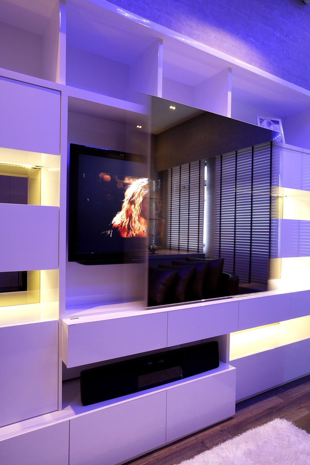 Beaux Monde Show Room (Ubi), Commercial, Interior Designer, Beaux Monde, Contemporary, Collage, Poster, Electronics, Lcd Screen, Monitor, Screen, Fire