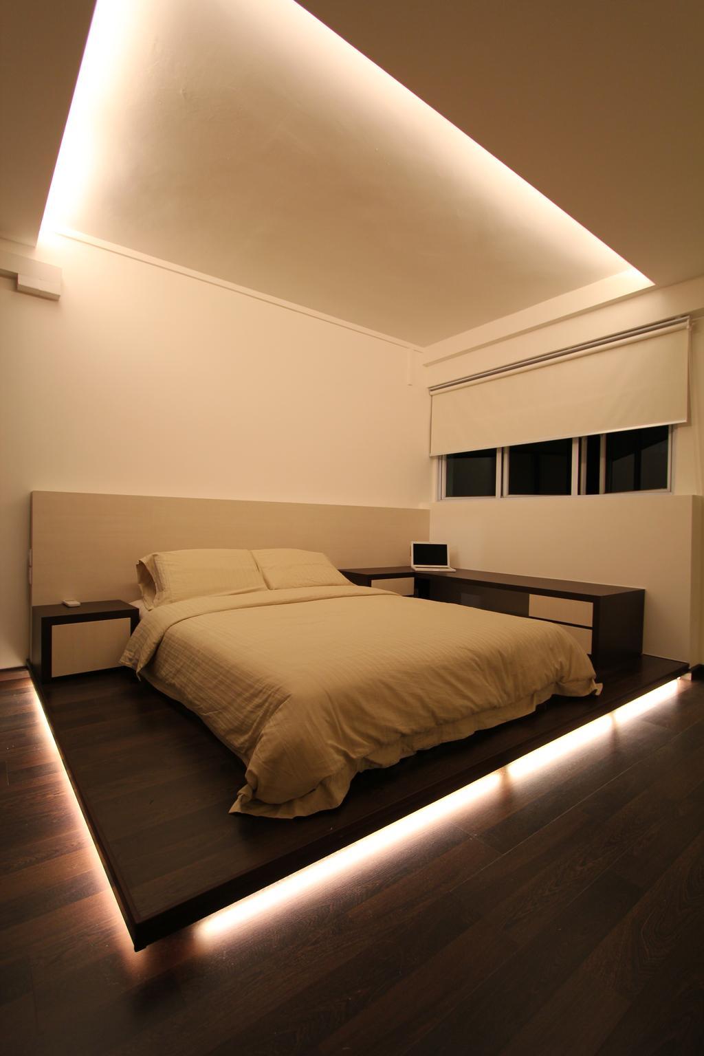 Modern, HDB, Bedroom, Tampines, Interior Designer, Beaux Monde, Bed, Furniture