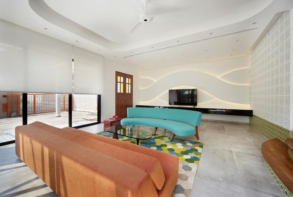 Eclectic, Landed, Living Room, Aroozoo, Interior Designer, Free Space Intent, Indoors, Room, Couch, Furniture