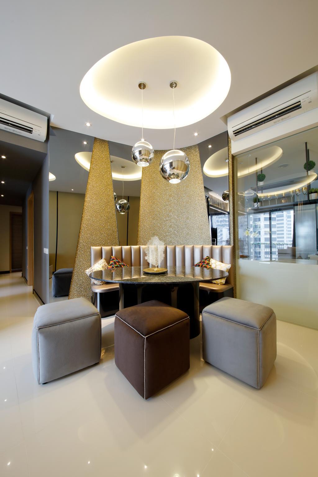 Modern, Condo, Dining Room, D'Leedon, Interior Designer, Free Space Intent, Eclectic, Contemporary, Indoors, Interior Design, Room, Chair, Furniture, HDB, Building, Housing, Loft