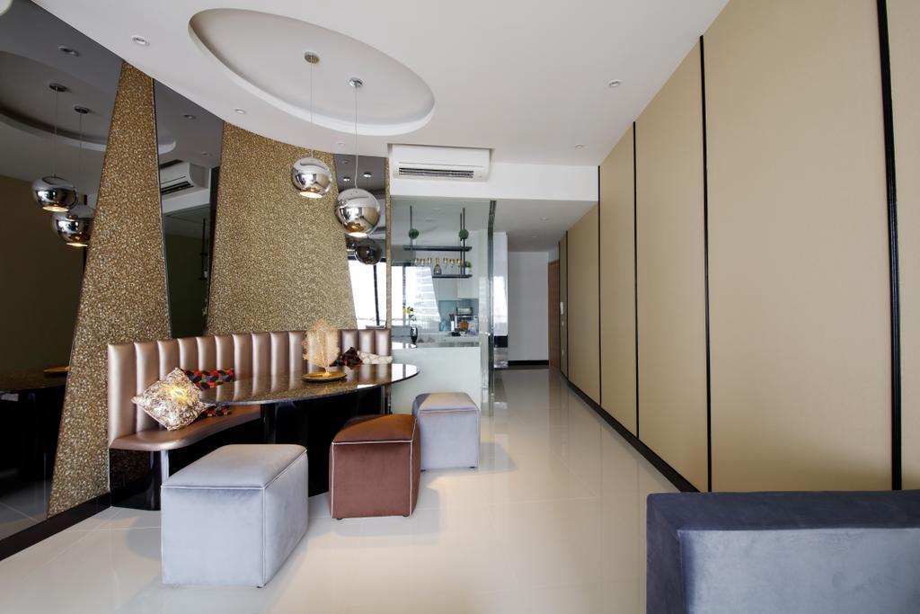 Modern, Condo, Dining Room, D'Leedon, Interior Designer, Free Space Intent, Eclectic, Contemporary, Indoors, Interior Design, Chair, Furniture, Room