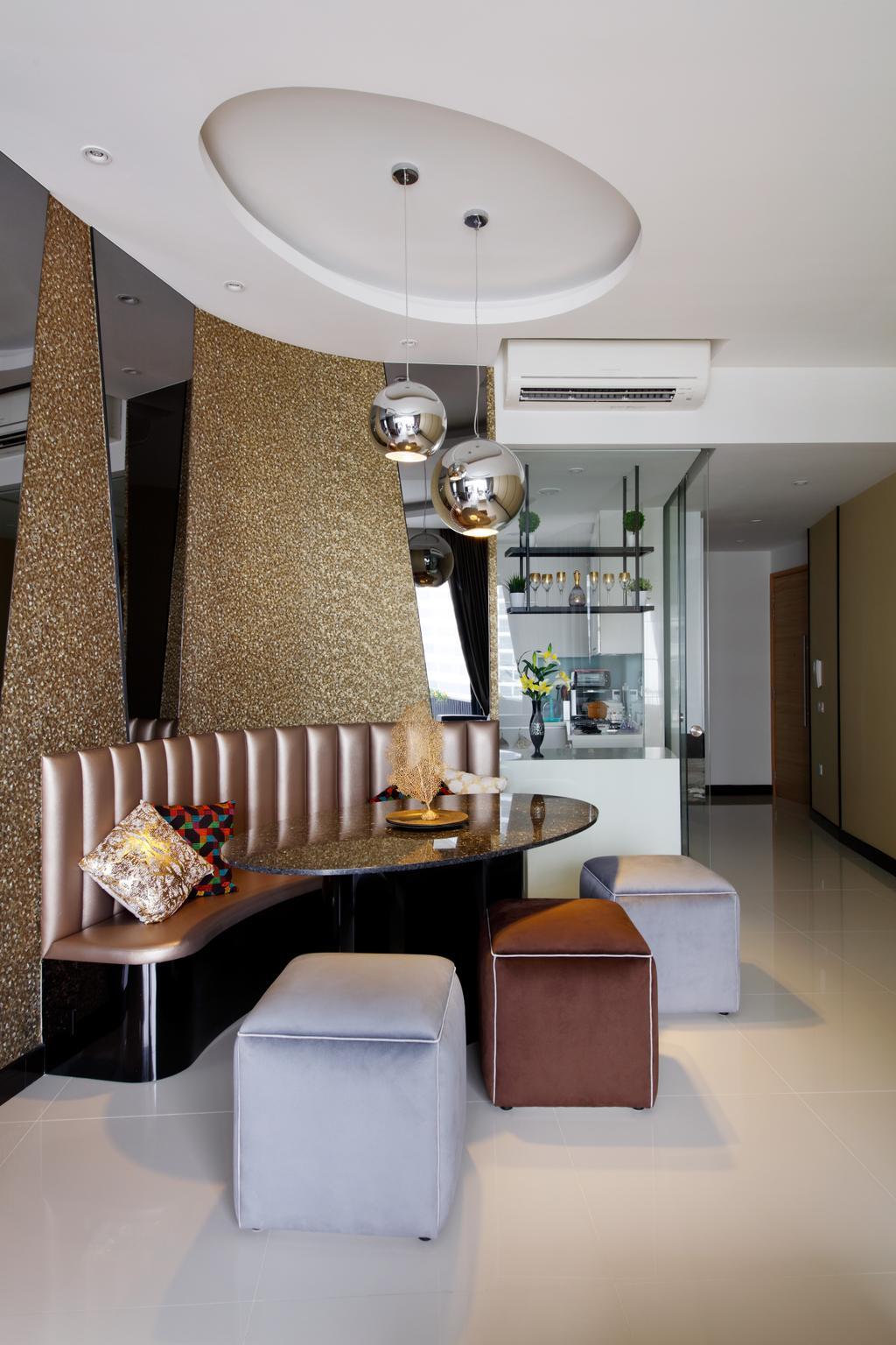 Modern, Condo, Dining Room, D'Leedon, Interior Designer, Free Space Intent, Eclectic, Contemporary, Chair, Furniture, Indoors, Interior Design, Room
