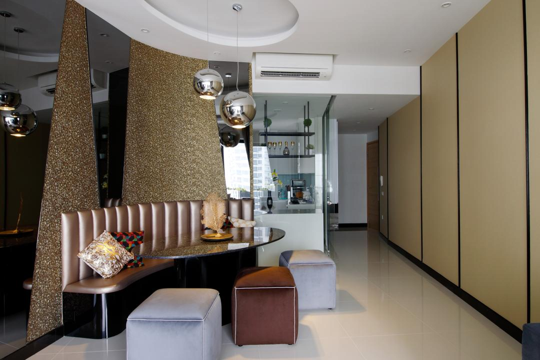 D'Leedon, Free Space Intent, Modern, Eclectic, Contemporary, Dining Room, Condo, Drinking Fountain, Fountain, Water, Couch, Furniture, Indoors, Interior Design, Room