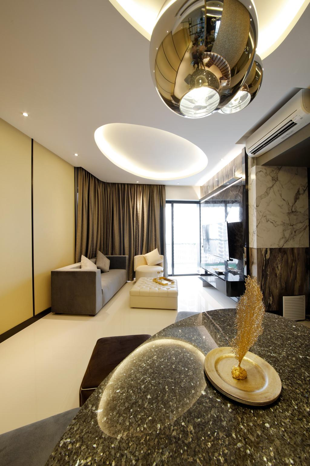 Modern, Condo, Dining Room, D'Leedon, Interior Designer, Free Space Intent, Eclectic, Contemporary, Indoors, Interior Design, Bedroom, Room