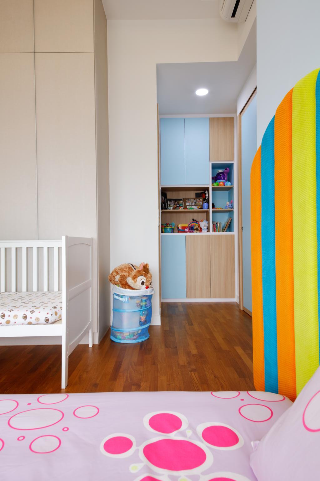 Modern, Condo, Bedroom, D'Leedon, Interior Designer, Free Space Intent, Eclectic, Contemporary, Indoors, Nursery, Room, Crib, Furniture