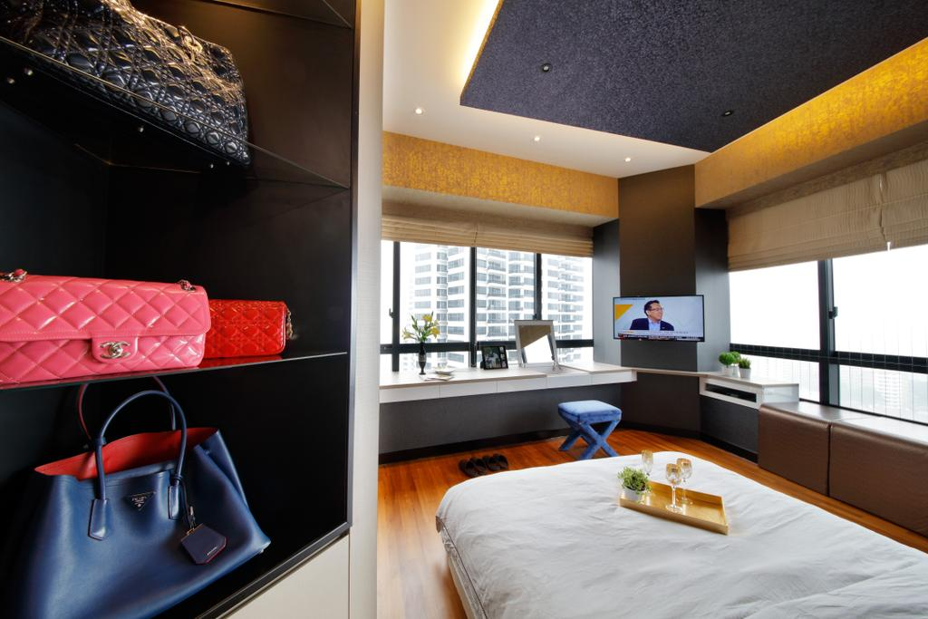 Modern, Condo, Bedroom, D'Leedon, Interior Designer, Free Space Intent, Eclectic, Contemporary, Indoors, Interior Design