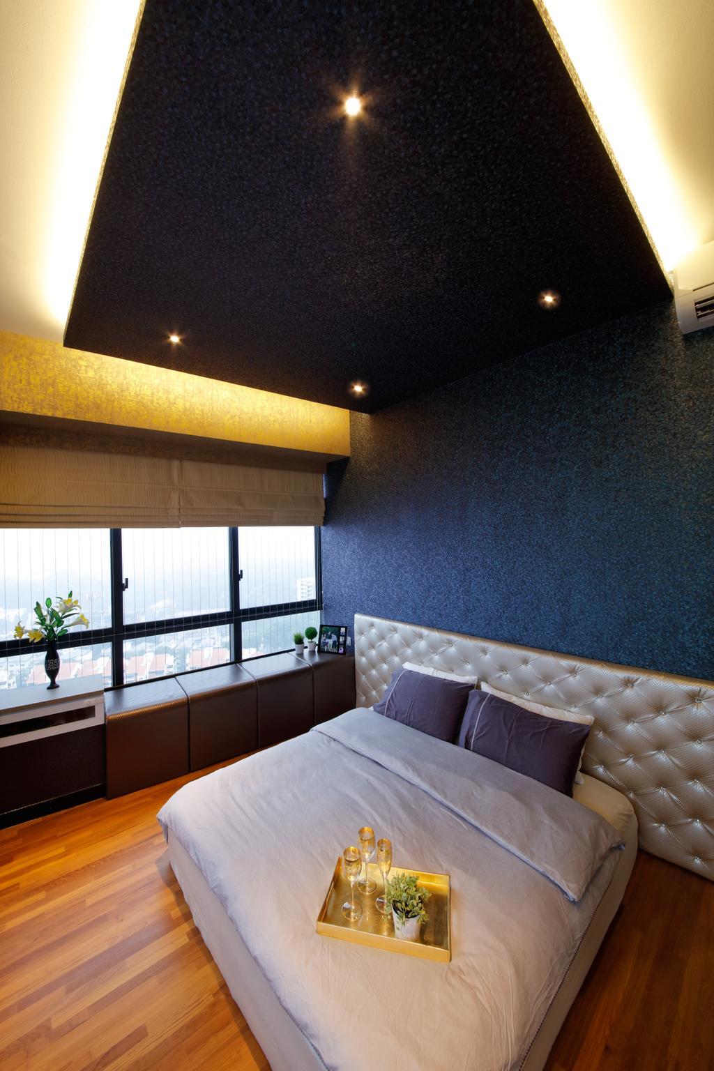 Modern, Condo, Bedroom, D'Leedon, Interior Designer, Free Space Intent, Eclectic, Contemporary, Lighting