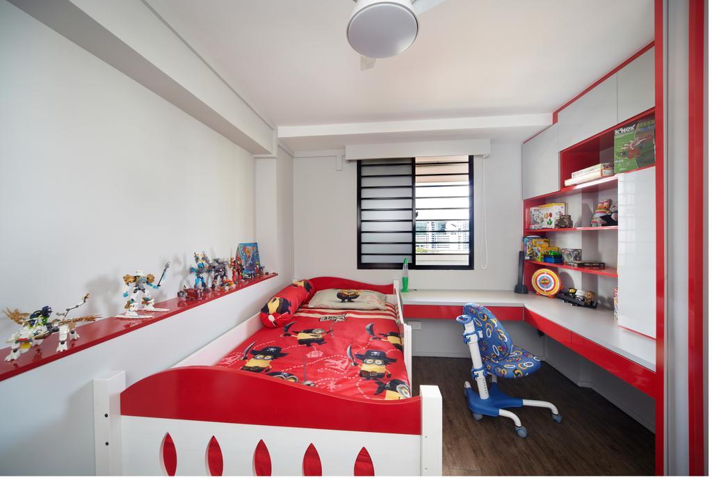 Modern, HDB, Bedroom, Haig Road, Interior Designer, Free Space Intent, Eclectic, Indoors, Room, Shelf