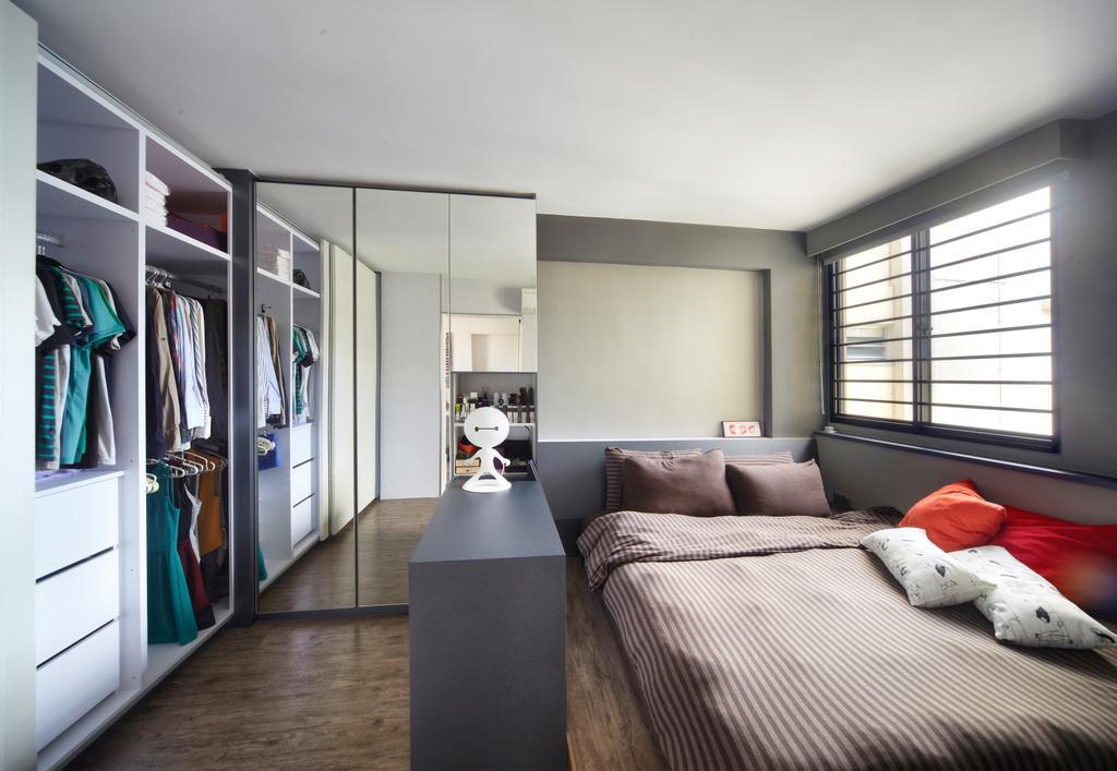 Modern, HDB, Bedroom, Haig Road, Interior Designer, Free Space Intent, Eclectic, Indoors, Interior Design, Room