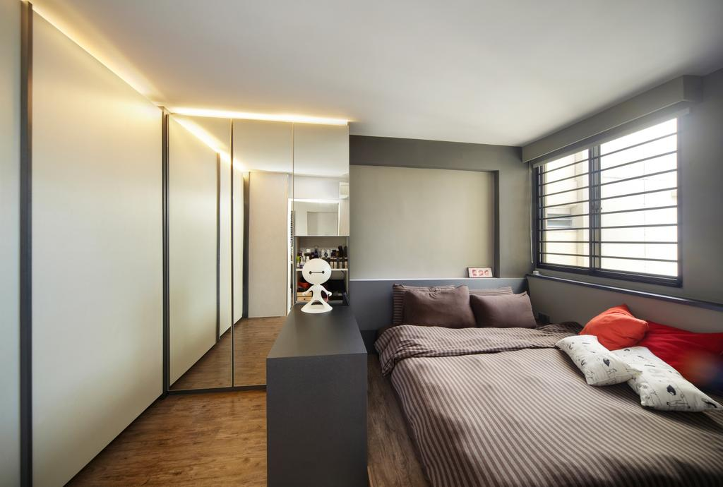 Modern, HDB, Bedroom, Haig Road, Interior Designer, Free Space Intent, Eclectic, Indoors, Interior Design, Room, Couch, Furniture