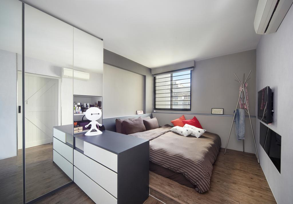 Modern, HDB, Bedroom, Haig Road, Interior Designer, Free Space Intent, Eclectic, Indoors, Interior Design, Room, Building, Housing, Loft