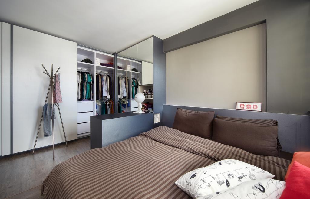 Modern, HDB, Bedroom, Haig Road, Interior Designer, Free Space Intent, Eclectic, Coat Rack