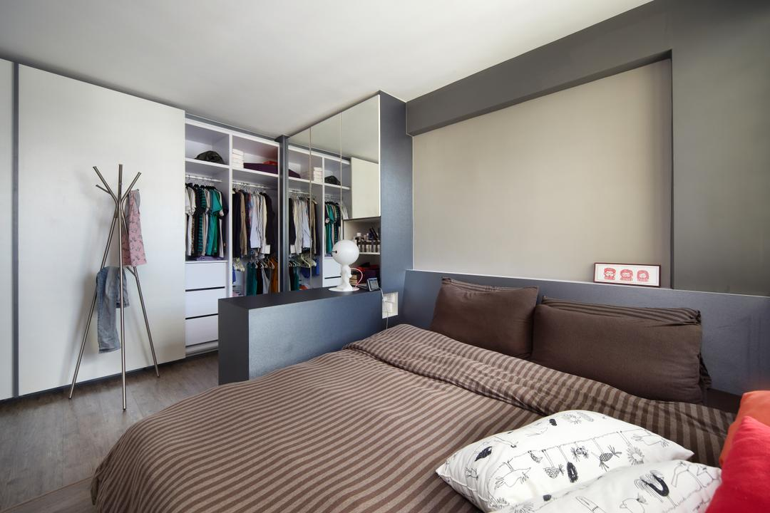Haig Road, Free Space Intent, Modern, Eclectic, Bedroom, HDB, Coat Rack