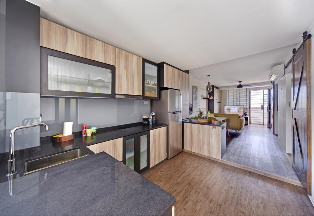 Modern, HDB, Kitchen, Haig Road, Interior Designer, Free Space Intent, Eclectic, Building, Housing, Indoors, Loft, Furniture, Reception